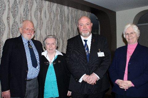 Provincial VP Alan Burgess, Sister Columba, President Kevin Doherty and Sister Angela