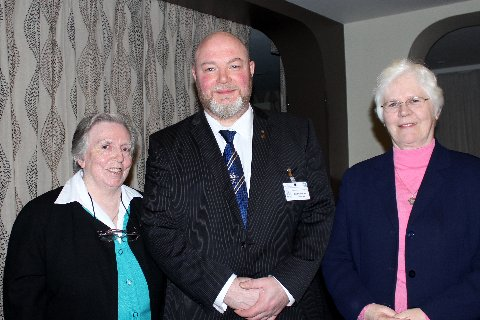 President Kevin Doherty with Sisters Columba and Angela