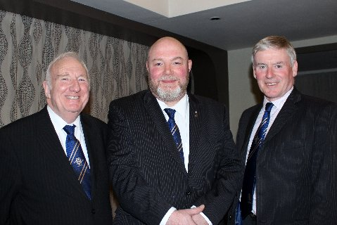 President Kevin Doherty (2013-14) with Immediate Past President Jeff Hildreth and Vice President Ian Swancott