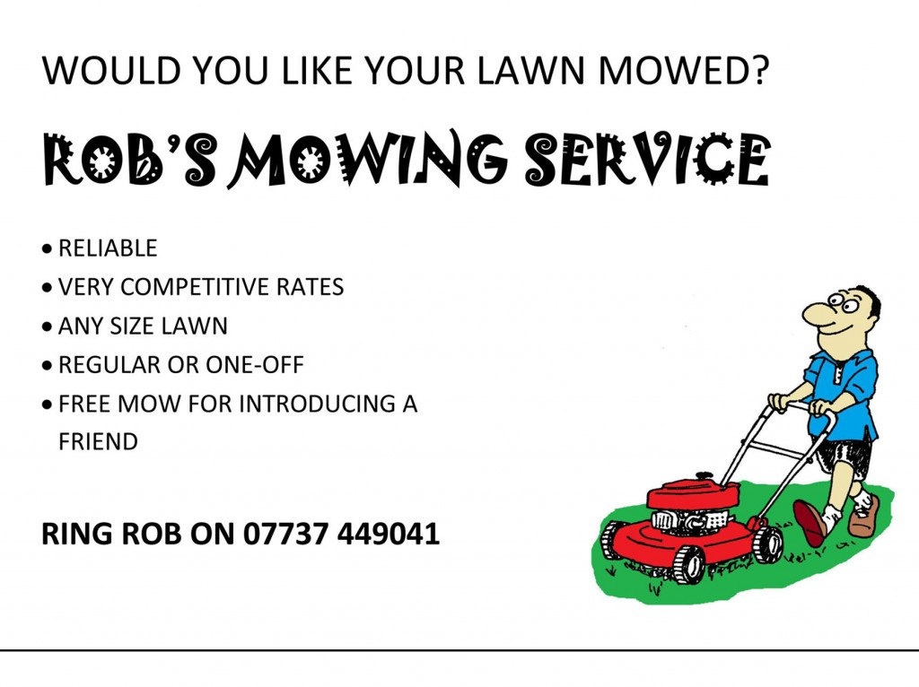 Lawn mowing flyer template for Garden maintenance flyer template