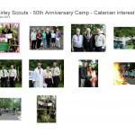 2nd Shirley Scouts - 50th Anniversary Camp - Catenian interest