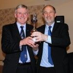 2014/15 President Bro Ian  Swancott accepting the 5 Circle Quiz Trophy in 2014